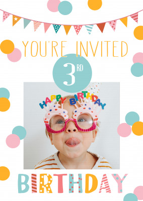 You're invited 3rd birthday