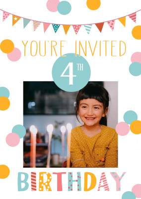 You're invited 4th birthday