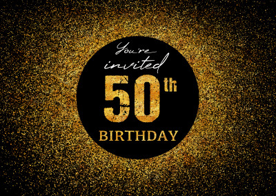 You're invited 50th Birthday