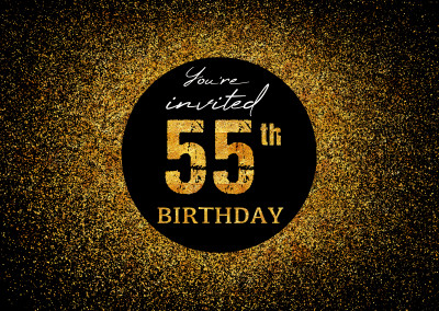 You're invited 55th Birthday