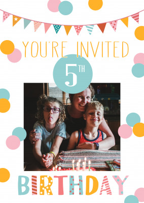 You're invited 5th birthday