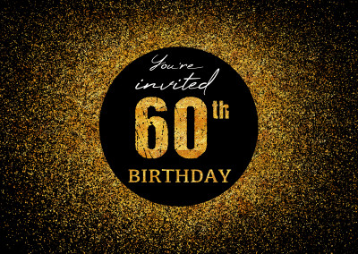 You're invited 60th Birthday