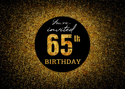 You're invited 65th Birthday