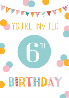 You're invited 6th birthday