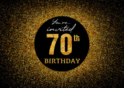 You're invited 70th Birthday