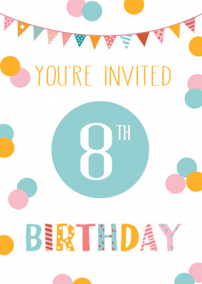 You're invited 8th birthday