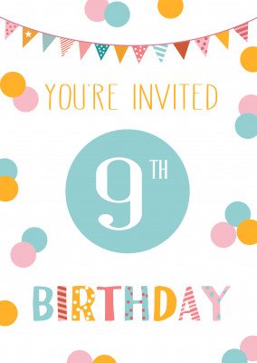 You're invited 9th birthday