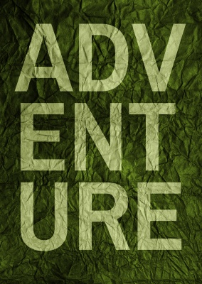 adventure quote postcard