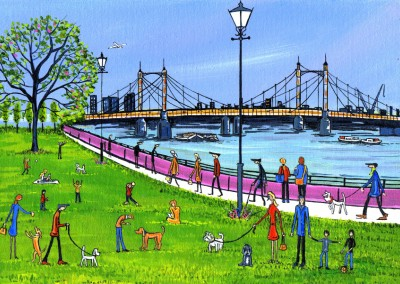 Illustration Du Sud De Londres, L'Artiste Dan Albert Bridge
