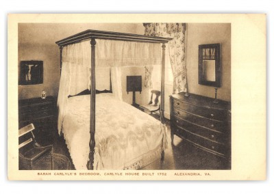 Alexandria, Virginia, Carlyle House, Sarah Carlyle's Bedroom