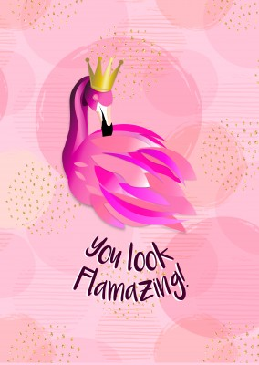 Amazing flamingo card very pink