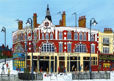 Illustration South London Artist Dan Amen corner