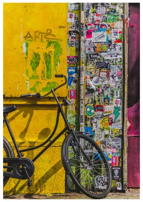 foto hollandse bikycle met street art