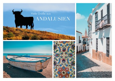Fotocollage Andalusien