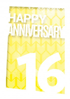 anniversary 16 postcard design greeting card