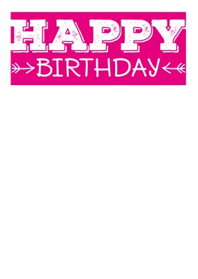 birthday wishes with arrows (pink)