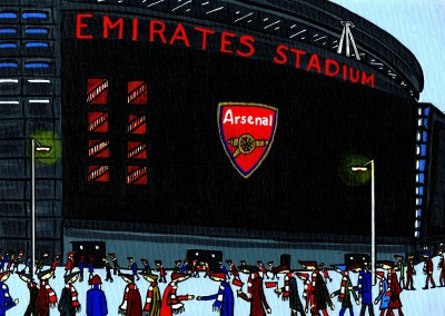 Illustration Södra London Konstnären Dan Arsenal