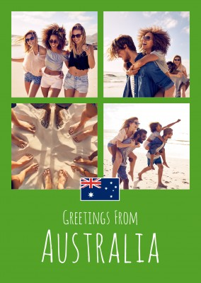 greeting card Greetings from Australia