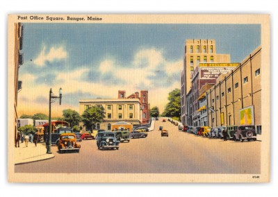 Bangor, maine, Post Office Square