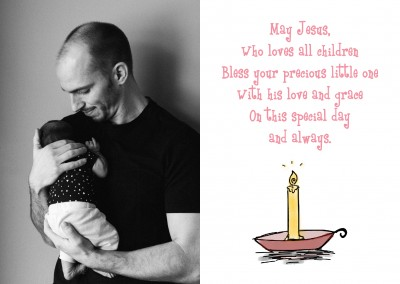 illustration of baptism candle