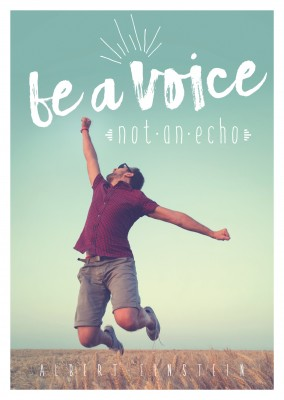postcard SegensArt Be a voice not an echo quote