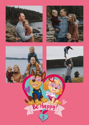 PAW Patrol postcard Be happy