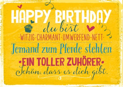 Postkarte SegensArt Happy Birthday