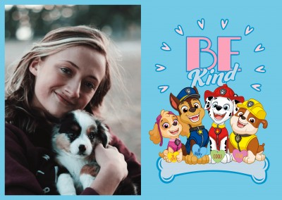 PAW Patrol postcard Be kind