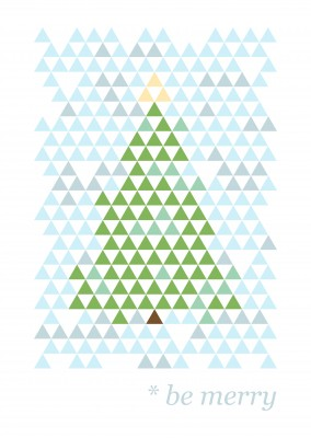 Be merry geometric christmas tree