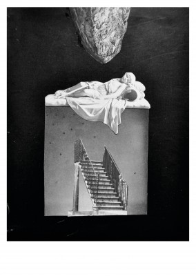 Belrost surrealistische Collage Treppe