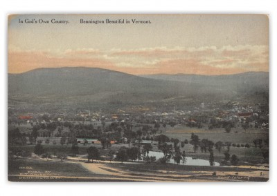 Bennington, Vermont, birds-eye view