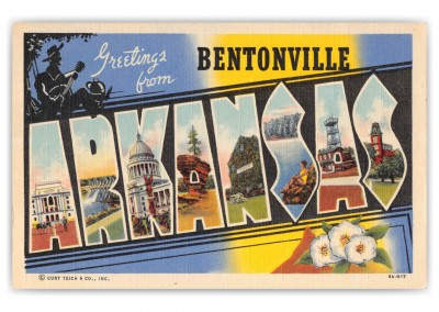 Bentonville Arkansas Large Letter Greetings