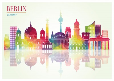 Berlin-Illustration of the cities sightseeings–mypostcard