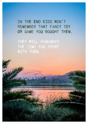 postcard saying The time you spent with them