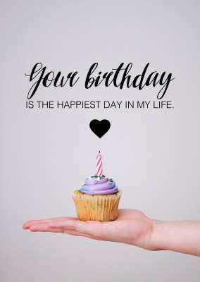 birthday quotes card postcard