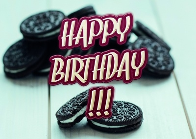 birthday wishes and cookies