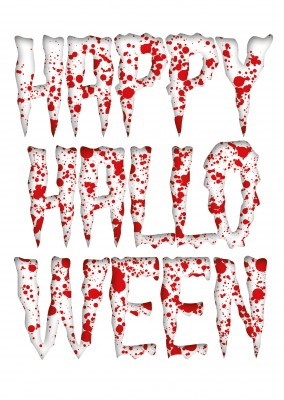 Happy halloween with splatters