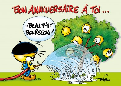 Le Piaf Cartoon Bon Anniversaire a toi