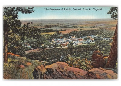 Boulder, Colorado, panorama from Mt. Flagstaff