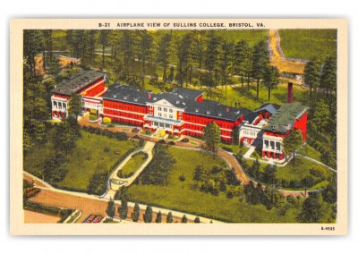 Bristol, Virignia, Airplane View of Sullins college