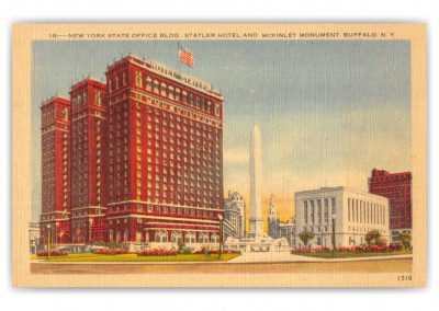 Buffalo, New York, Office Building, Statler Hotel and McKinley Monument
