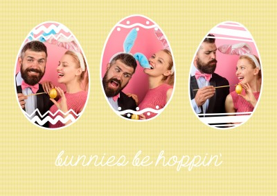 Bunnies be hoppin. Three pictures.