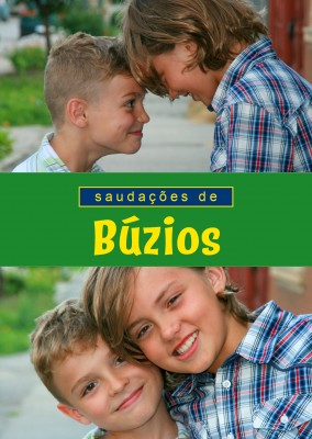 Búzios greetings in Portuguese language