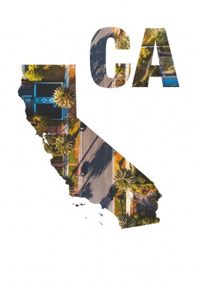 California state photo streets bird's eye view