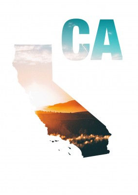 California state photo sunset