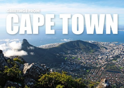 Capetown from bird's eye view