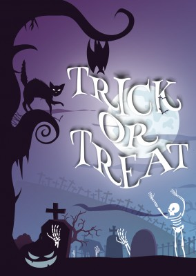 Trick or treat with graveyard