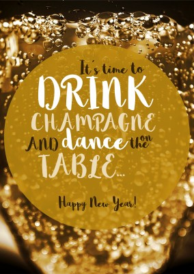 It´s time to drink Champagne and dance on the table