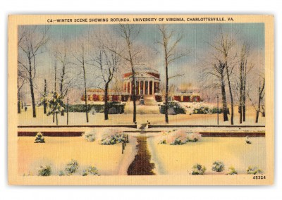 Charlottesville, Virginia, Univeristy of Virginia in winter