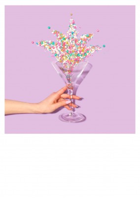 photo coktail glass hand candy